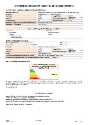 Certificación enerǵetica en Toledo, Madrid